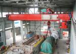 Rail Electric Hoist Double Girder Overhead Crane 250 Ton For Workshop