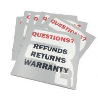 Recycled White Card Paper Insert Printing CMYK Both Sides Glossy Varnish
