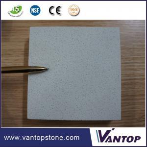 Fine Grain White Silestone Man Made Quartz Countertops Bathroom Vanitytop