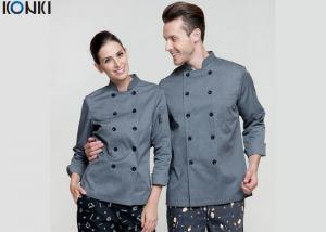 China Personalized Chef Cook Uniform Clothes , Slim Fit Double Breasted Suit on sale