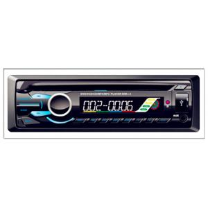China One-Din universal Car DVD Player with Detachable panel with USB/FM/Clock/SD/Movie on sale