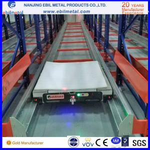 China Radio Shuttle Racking Q345 raw material for cold warehouse storage solutions on sale