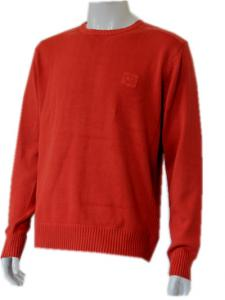 China VOGUE Red Pigment dyeing  cotton fabric Womens Cashmeres Sweater clothing  on sale