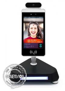 China Ips 8 Inch Kiosk Digital Signage Face Recognition Lcd Display Body Temperature Test on sale