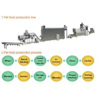 Industrial Automated Pet Food Extruder Machine Siemens PLC & Touch Screen Controlled