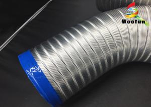 China Round exhaust ventilation system kits semi rigid aluminum flexible air duct 3m length on sale
