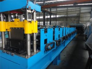 China Roof Cable Tray Roll Forming Machine , Wall Panel Roll Forming Machine By Chain on sale