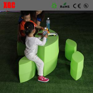 China Prismatic Table and Stool Set / Plastic Outdoor Furniture For Kindergarten on sale