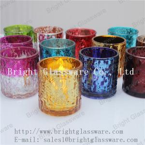 China hot sale decorative tea light glass candle holder supply on sale
