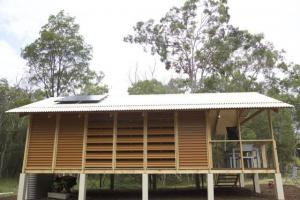 China Modern Sanded WPC House With LVL Frame , Resistance To Rot And Crack on sale