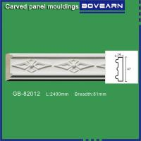 High density polyurethane foam panel mouldings various designs 47mm width color customized OEM cervice