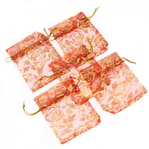 China Custom Printed Organza Bag Wholesale & Organza Gift bag & Customized Organza Bag With Logo Ribbon on sale