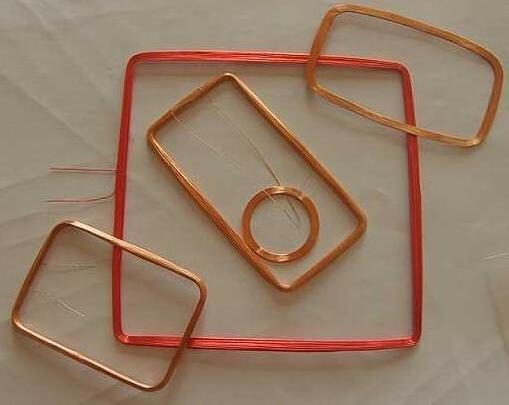 Square Copper Customized Micro RFID Tags Transponder Coil In
