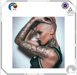 Classic Lotus Dragon Totem Design Temporary Tattoo Sticker Women Men Body Art