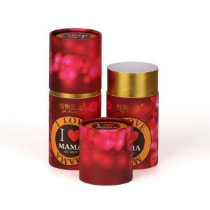 China Red Color Print Custom Paper Cylinder Cans Gift Package Round Boxes on sale