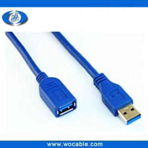 China high speed USB3.0 cable/AM to AF blue color on sale