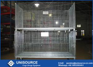 Wire Storage Cages | Durable Welded Steel Wire Storage Cages Industrial Stackable