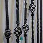 "Iron Balusters Decorative Metal Post Single Basket With 1117.6mm 44"" Height"