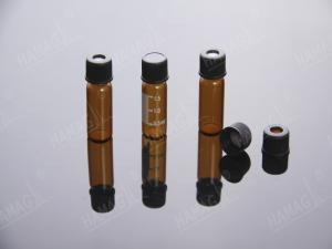 China 1.5ml HPLC autosampler vials thread ND8-425 Screw Neck glass sample vials with Caps and Septa on sale