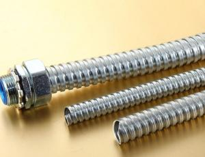 China 3/4 Galvanized Metal Flexible Conduit Pipe , Flexible Metal Hose SGS Approval on sale
