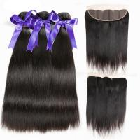 China 95-100g Peruvian Human Hair Weave Mink Brazilian Straight Hair Bundles on sale