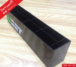 China Black Acrylic Stationery Holder Display Plastic Pen Organizer With Logo on sale
