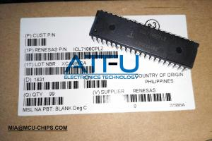 China LCD Display LED Driver IC Chip ICL7106CPLZ Renesas Original 3.5 Digit 40 DIP on sale