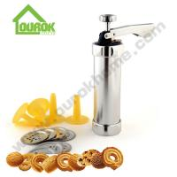 Aluminum cookie decorating press gun making biscuits cake tools with nozzle baking kit tools