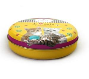 China Seamless Round Cat Food Metal Container on sale