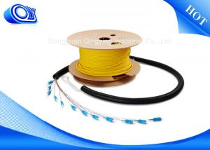 China 3G 4G Wireless Single Mode Armored Fiber Cable With Stainless Steel Tube on sale