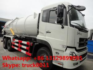 China best price DONGFENG TIANLONG 6*4 16M3 vacuum tank truck for sale, factory sale dongfeng16cbm sewage suction truck on sale