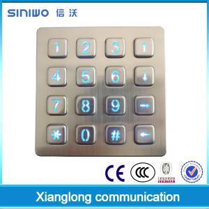 China Zinc alloy chrome frame and key buttons,Backlit keys,Vandal resistant on sale