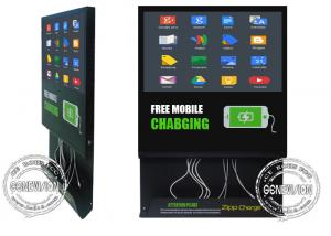 China 22inch Fast Speed Mobile Phone Charging Station, Android Wifi Digital Signage Cloud Server Remote Control on sale