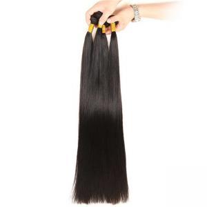 China 32-40 Inch Virgin Brazilian Straight Hair Bundles No Tangle Natural Black Color on sale
