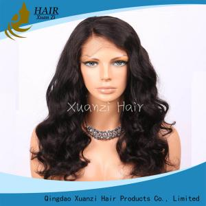 China 18-22 inch 360 Full Lace Wigs , 360 Brazilian Virgin Hair Full Lace Fake Hair on sale