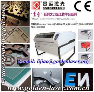 China 1mm to 10mm Veneer Wood Laser Cutter Machine MJGSH-13090DT on sale
