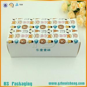 China Cute design custom printed C1S art paper sock packaging box on sale