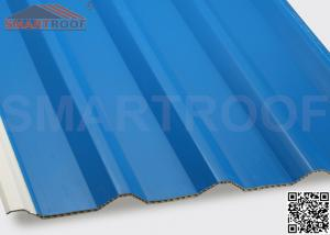 China 94% Efficiency PVC Hollow Plastic Roofing Panels Sheets With Low Heat Conductivity on sale