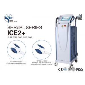 China 100V 50 - 60Hz Intense Pulsed Light Laser Hair Removal Equipment with Double Handles on sale