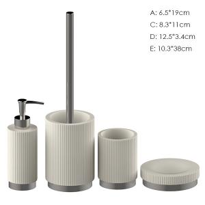 China Custom White Concrete Toothbrush Holder / Rough Concrete Bath Accessories on sale