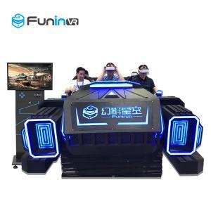 China Indoor Games 9D VR Cinema Roller Coaster Amusement Park Ride Black Color on sale