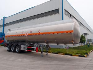 China China good quality aluminum  alloy low  steel 3 axles  fuel oil tanker trailer for sale on sale