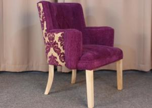 China Classic Modern Fabric Armchairs For Living Room With Solid Oak Wood dining chair on sale