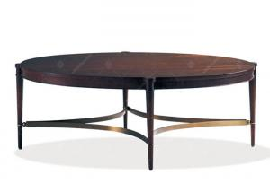 China Espresso / Bronze Coffee Tabl Antique Style , Oversized / Large Round Coffee Table on sale