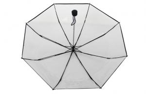 China 42 Inch Arc Mini Clear PVC Umbrella , Hand Open Transparent For Women on sale