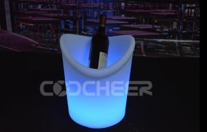 China Rechargeable Remote Control Lighted Ice Bucket Ip68 1 - 2  Bottles on sale