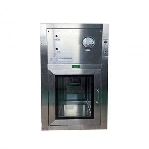 China Stainless Steel Plate Clean Room Equipment Air Shower Clean Pass Modular Clean Room Pass Box GMP on sale