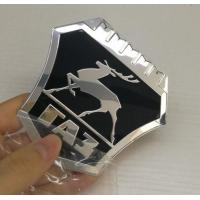 China New model Custom Chrome plastic ABS car badges emblems and auto car logo metal emblems badge factory on sale