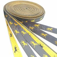 Professional Hight quality metallic custom woven horse design gifts ribbon