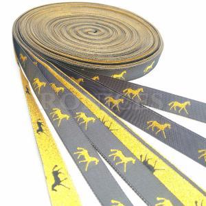 China Professional Hight quality metallic custom woven horse design gifts ribbon on sale